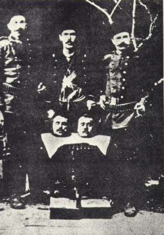 Murderers with bishop heads: Bishop Smbat Satrjan and head of the Lutheran Armenians