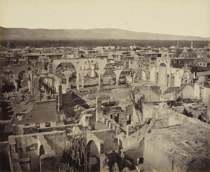 Ruins of the Greek church in Damascus