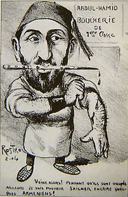Caricature: Butcher Sultan Abdülhamid II.