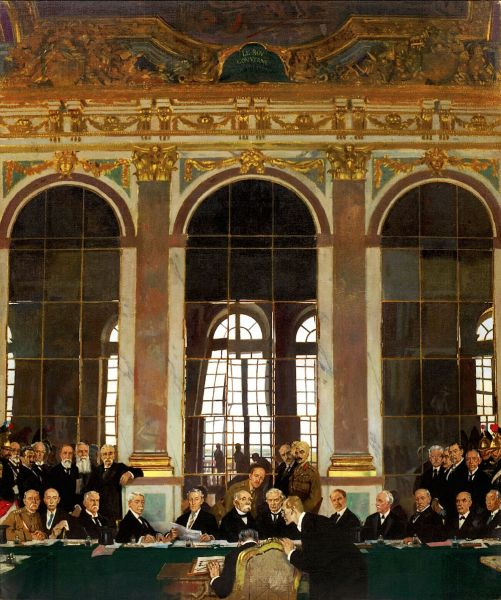 William Orpen: signing of the Treaty of Versailles